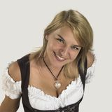 Woman in a dirndl Stock Photos