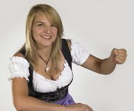 Woman in a dirndl Stock Image
