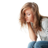 Woman is disappointed Stock Photography
