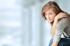 Woman is disappointed Royalty Free Stock Image