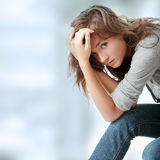 Woman is disappointed Royalty Free Stock Photography