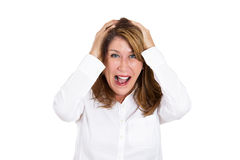 Woman in disbelief Royalty Free Stock Images