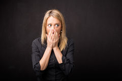 Woman in disbelief Stock Photography