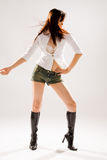 Woman disco dancing royalty free stock photos