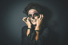 Woman in disguise for Halloween Royalty Free Stock Photo