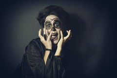 Woman in disguise for Halloween Stock Image