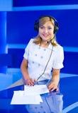 Woman dispatcher Stock Photography