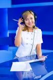 Woman dispatcher Stock Photo