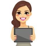 Woman Displaying Tablet Stock Photos