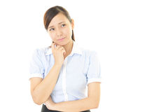 Woman dissatisfied expression Stock Image