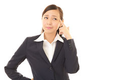Woman dissatisfied expression Royalty Free Stock Photos