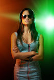 Woman DJ portrait Royalty Free Stock Photography
