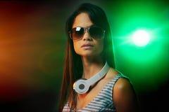 Woman DJ portrait Royalty Free Stock Photos