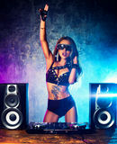 Woman dj Royalty Free Stock Photos
