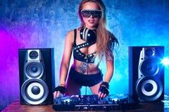Woman dj royalty free stock image