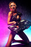 Woman dj Stock Image
