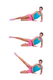 Woman Do Exercises Royalty Free Stock Images
