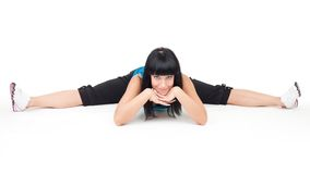 Woman do the splits Stock Image