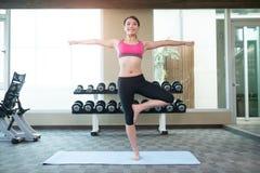Woman do yoga Stock Image