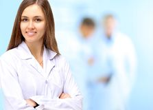 Woman Doctor At Hospital Royalty Free Stock Photos