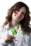 Woman Doctor with Badge Stock Photos