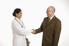 Woman doctor and businessman. Royalty Free Stock Image