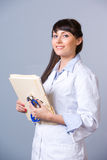Woman Doctor chart stock images