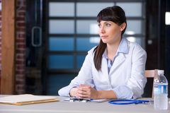 Woman Doctor chart Stock Photography