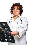 Woman doctor check xray Stock Photos