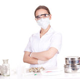 Woman doctor or chemist in laboratory Royalty Free Stock Photo
