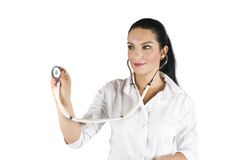 Woman doctor consulting stock images
