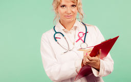 Woman doctor diagnose patient Stock Photography