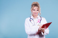 Woman doctor diagnose patient Stock Image
