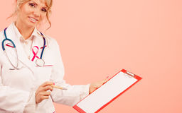 Woman doctor diagnose patient Royalty Free Stock Photos