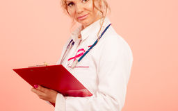 Woman doctor diagnose patient Royalty Free Stock Photo