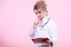 Woman doctor diagnose patient Royalty Free Stock Images