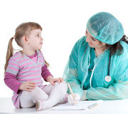 Woman doctor exam small young girl Stock Image