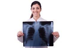 Woman doctor examining x-ray Royalty Free Stock Photography