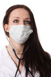 Woman doctor face Royalty Free Stock Image