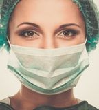 Woman doctor in face mask Royalty Free Stock Photography