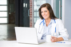 Woman Doctor In A Modern Office Stock Image