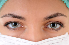 Woman doctor in a mask Stock Image