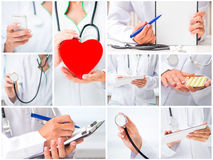 Woman doctor with medical instruments Royalty Free Stock Photo