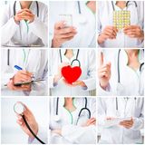 Woman doctor with medical instruments Stock Photography