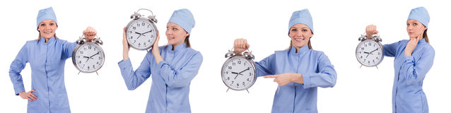 The woman doctor missing her deadlines Stock Images