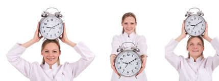 The woman doctor missing her deadlines Stock Photography