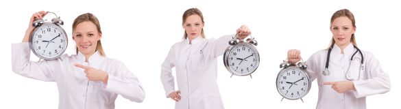 The woman doctor missing her deadlines Stock Image