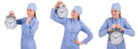 The woman doctor missing her deadlines Stock Photos