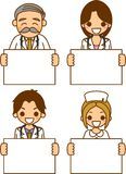 Woman doctor and nurse and physician. This is an illustration board has the doctor Royalty Free Stock Photography