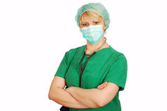 Woman doctor posing Royalty Free Stock Photo